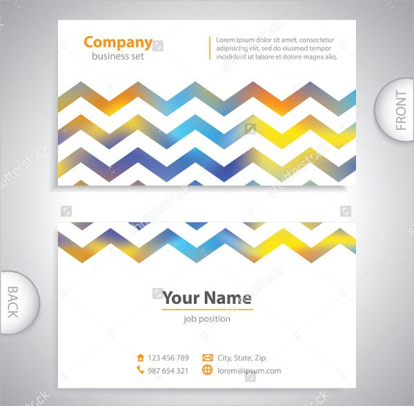 Printable Chevron Business Card Template