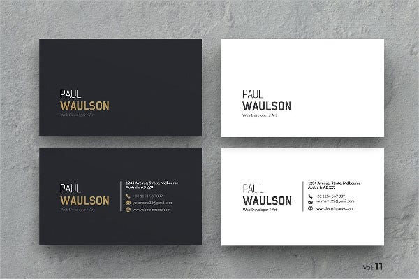 Printable Clean Business Card
