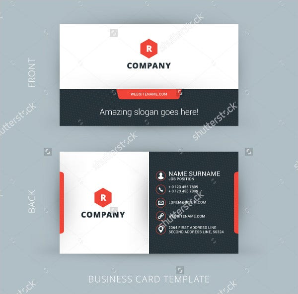 Printable Vector Modern Business Card