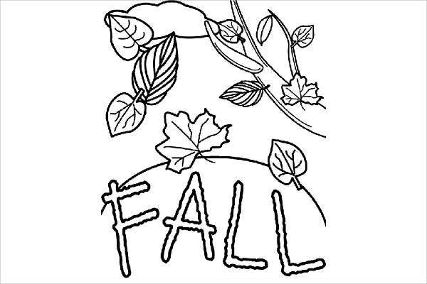 Free Printable Fall Coloring Page for Adults