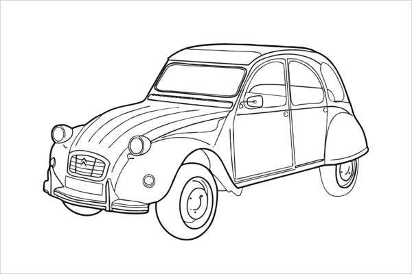 free printable coloring page of car for adults1