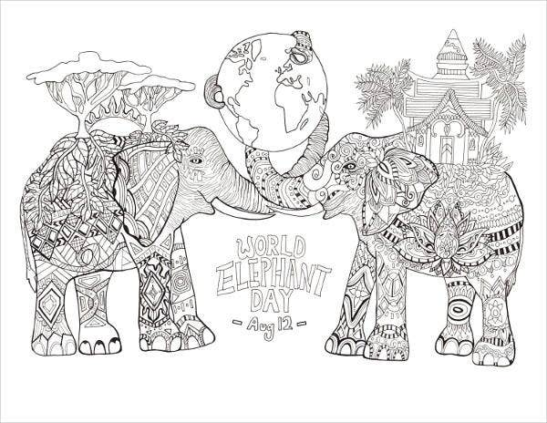 Free Printable Animal Coloring Page for Adults