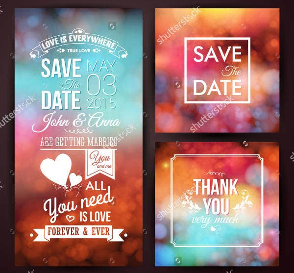 save the date thank you card