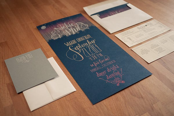 Lettered Wedding Thank You Card