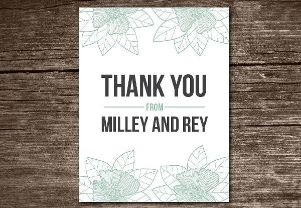 Engagement Thank You Card Design