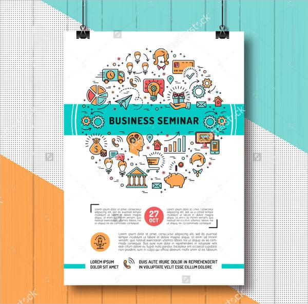 vector-seminar-poster-template