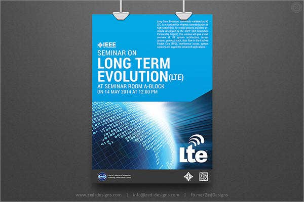 event seminar poster template