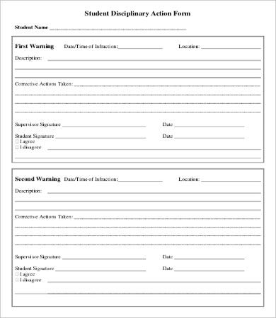Disciplinary Action Form - 20+ Free Word, PDF Documents Download ...