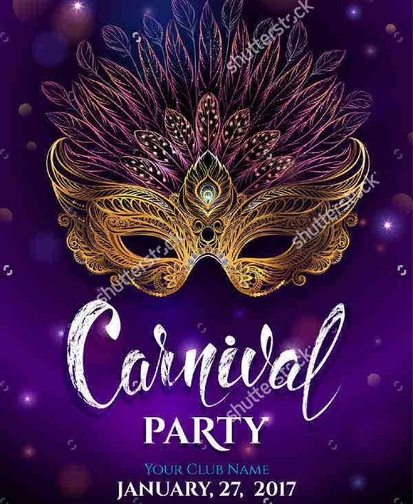 Golden Carnival Party Invitation