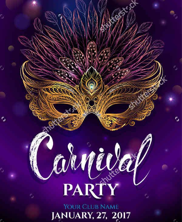 golden carnival party invitation