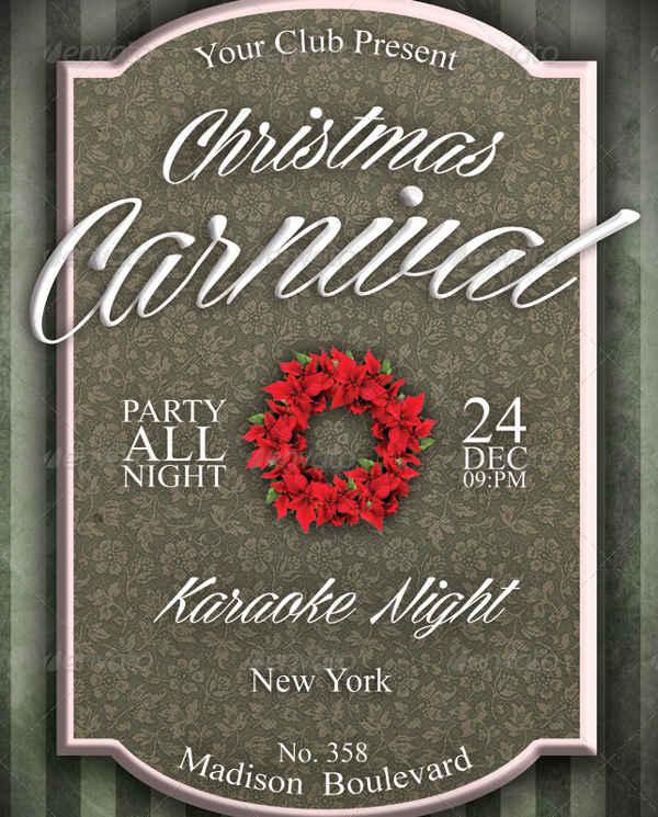 christmas carnival invitation