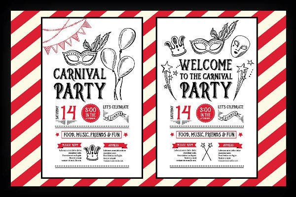 11  carnival invitation samples