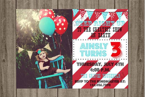 birthday party carnival invitation