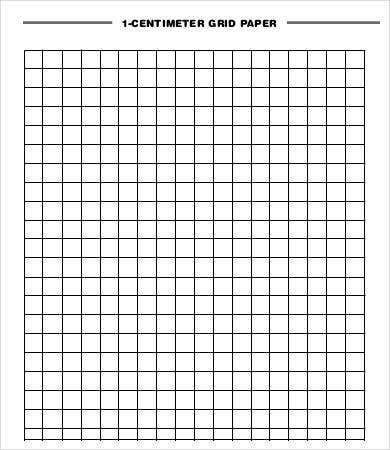 1 Centimeter Grid Paper  Graph Paper Word Document