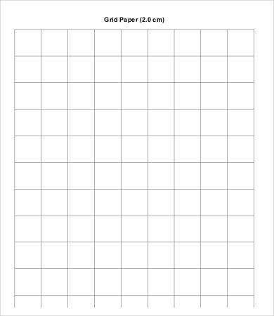 Free Printable Grid Paper Sample