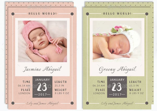 9 baby announcement templates free psd ai vector eps format