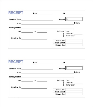 Paid Receipt Template - 8+ Free Excel, Pdf Format Download | Free