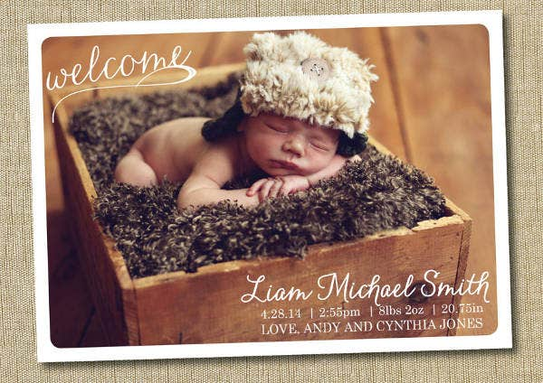 Custom Baby Announcement Template