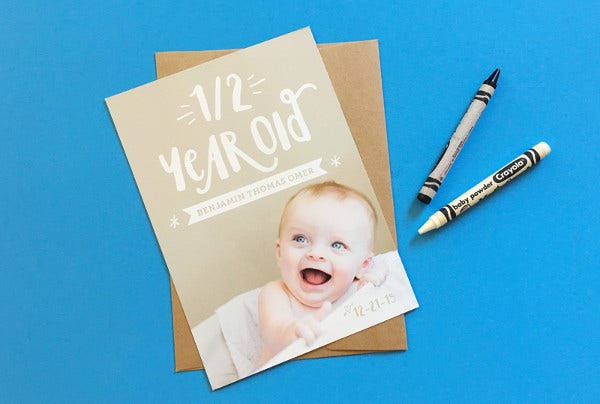 Baby Announcement Stationary Card