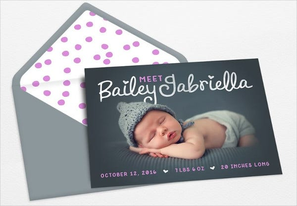 Baby Announcement Envelope Template