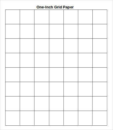 Printable Grid Paper Template   Free Word Pdf Documents