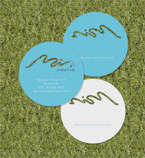 Round Business Cards Free PSD Vector AI EPS Format Download - Round business card template