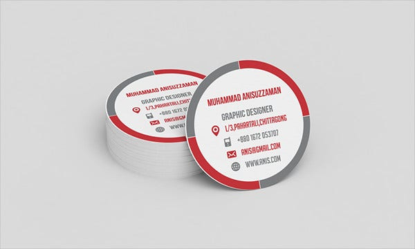 Round business cards 9 free psd vector ai eps format download round shaped personal business card cheaphphosting Gallery