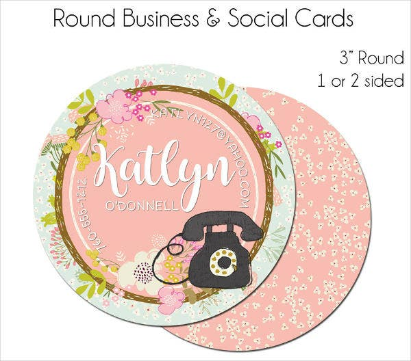 Round Social Business Card