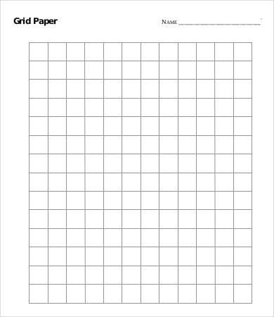 Standard Grid Paper Printable