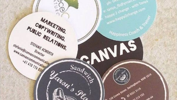 round business card templates