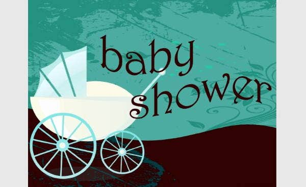 Retro Baby Shower Postcard