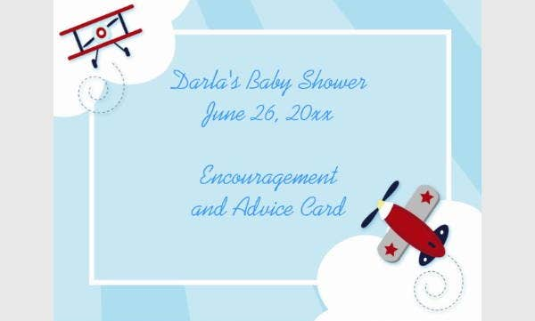 Baby Shower Advice Cards Postcard