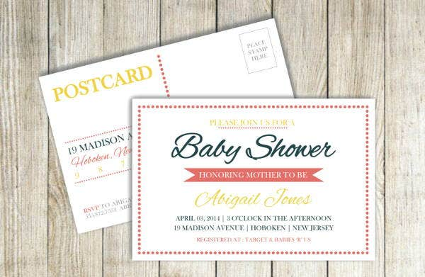 7+ Baby Shower Postcards - Free Printable PSD , AI Format Download ...
