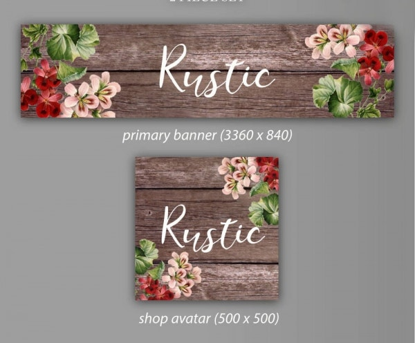 rustic floral banner