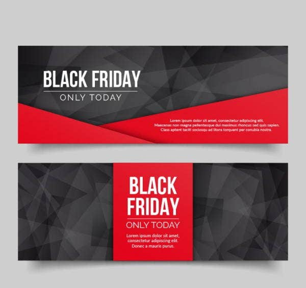 polygonal-banner-black-friday-free-vector