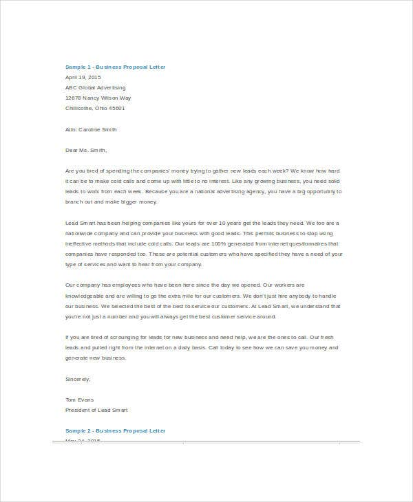 Business Proposal Template Word 5 Free Sample Example Format – Sample Business Proposal
