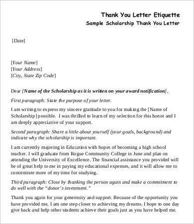 thank you letter for sponsoring my education pdf