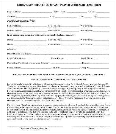 Medical Release Form  Free Medical Form Templates
