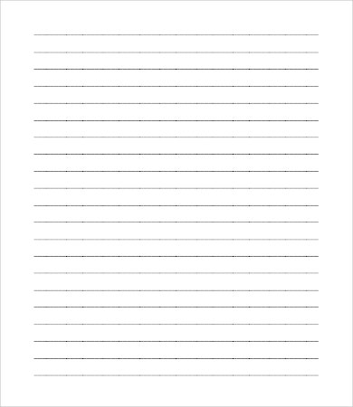 Blank Lined Paper Template