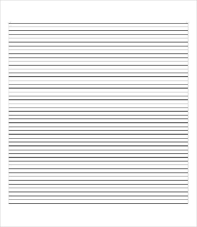 Blank Notebook Paper Template For Word  Notebook Paper Word Template