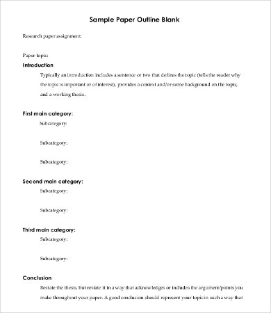 Blank Research Paper Template