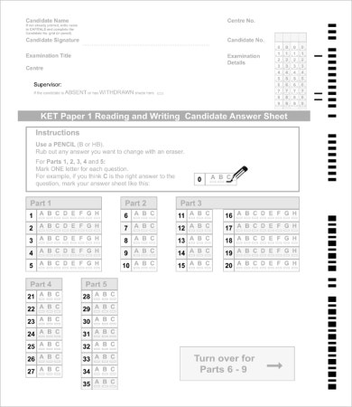 Blank Exam Paper Template