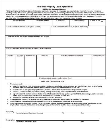 Personal Loan Agreement Templates Free Pdf Word Samples