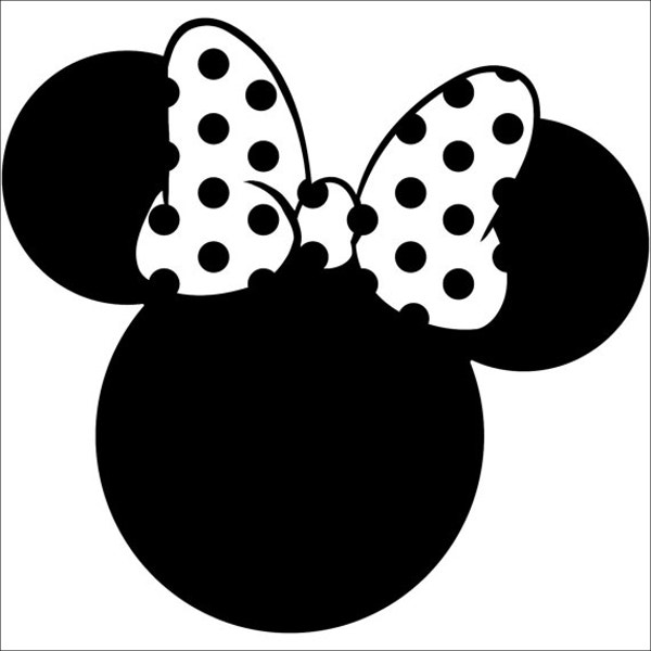 Punchy image within minnie mouse silhouette printable