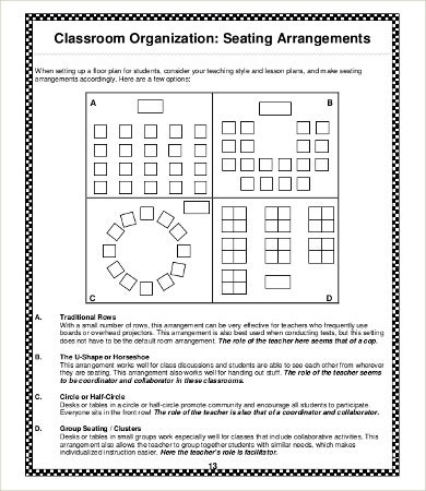 teacher resources seating chart template1