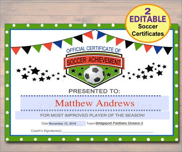 sports-team-award-template