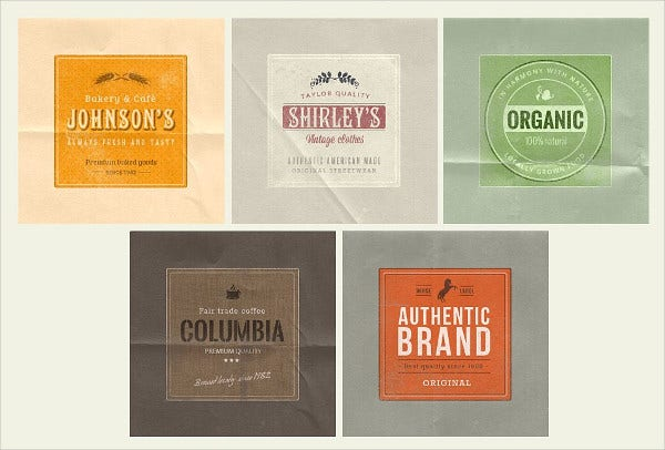 Photoshop Label Template