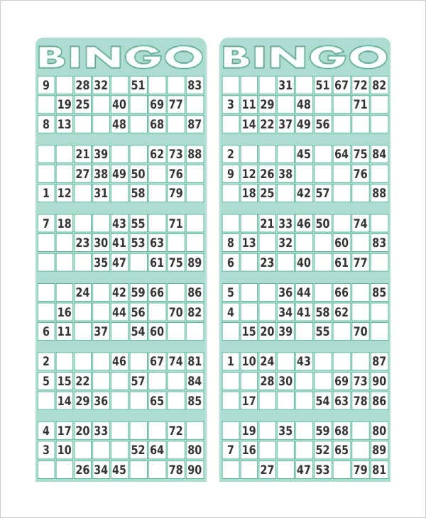 graphic relating to Bingo Chips Printable titled Free of charge Printable Bingo Card - 7+ Cost-free PDF Data files Down load