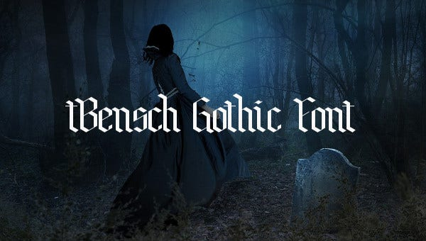 feature images gothic fonts