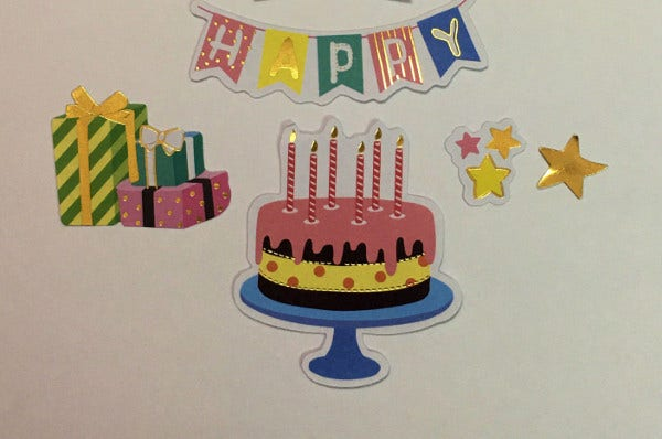 Free Ship Birthday Sticker